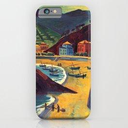 Cinque Terre al Mare Italian Coastline by Hermann Max Pechstein iPhone Case