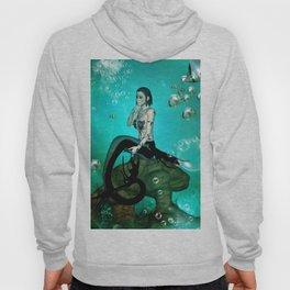 Wonderful dark mermaid in the deep ocean Hoody