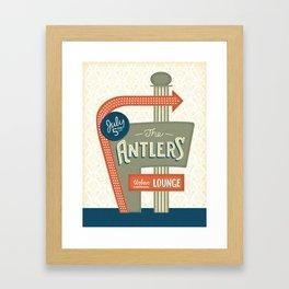 The Antlers Gig Poster Framed Art Print