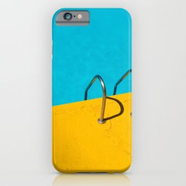 SWIMMING POOL WITH STAINLESS STEEL LADDER iPhone Case
