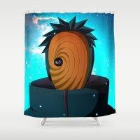 naruto Shower Curtains featuring Naruto Obito Uchiha by BradixArt