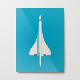 Concorde Supersonic Jet Airliner Aircraft - Blue Metal Print