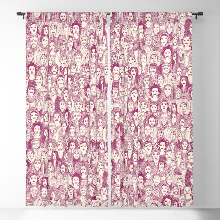 WOMEN OF THE WORLD CHERRY Blackout Curtain