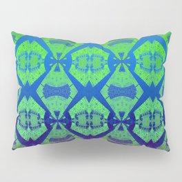 African Vintage Fabric Green Tone Gradient Pillow Sham