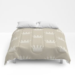 George Grey with Pale Grey Crowns Comforters