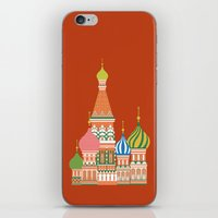 moscow iPhone & iPod Skins featuring Moscow by Chay Lazaro