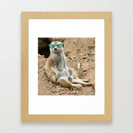 Sunny Meerkat Framed Art Print