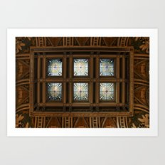 Stained glass on the ceiling Art Print