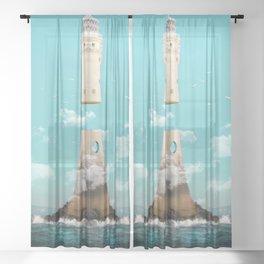 Lighthouse Separatio Sheer Curtain
