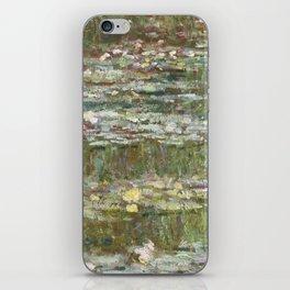 Water Lily Pond (Japanese Bridge) iPhone Skin