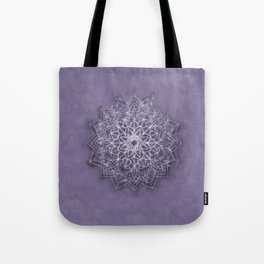Vintage Lavender Watercolor Mandala Tote Bag