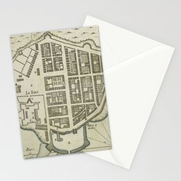 Vintage Map of Lower Manhattan (1764) Stationery Cards