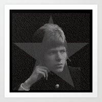 Bowie Tribute III Art Print