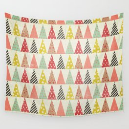 Whimsical Christmas Trees Wall Tapestry