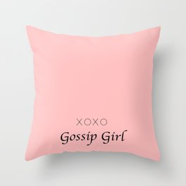 XOXO Gossip Girl - tvshow Throw Pillow