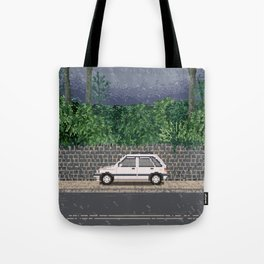 Rainy day / Pixel art Tote Bag