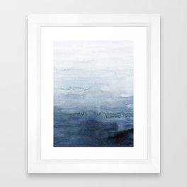 Indigo Abstract Painting | No. 4 Framed Art Print