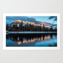 Alpen Reflections Art Print