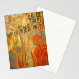 """Odilon Redon """"Figure from the decoration of Domency  Castle"""" Stationery Cards"""