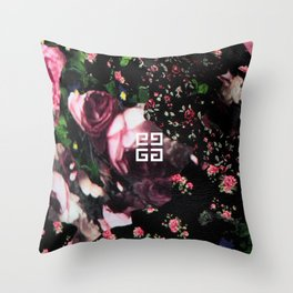 Givenchy all over flower and camo printed nightingale  with detachable shoulder strap and one int Throw Pillow