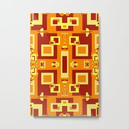 Red, Cream, Gold, Yellow Decorative 2 Metal Print