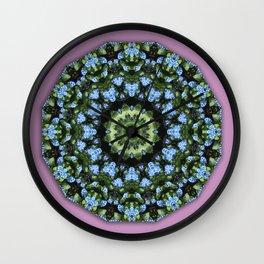Forget-me-nots, Nature Flower Mandala, Floral mandala-style Wall Clock