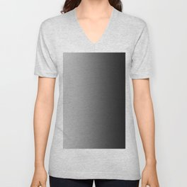 Gray to Black Vertical Linear Gradient Unisex V-Neck