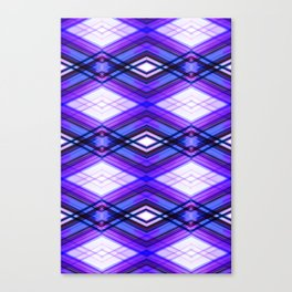 Technologic  - Ultra Violet Minimal Geometric Abstract Canvas Print