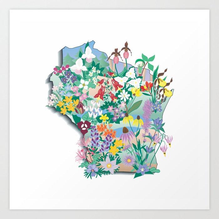 Wisconsin Wildflowers Art Print