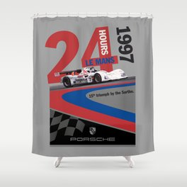 Porsche: The Missing Poster Shower Curtain