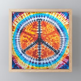 Tie Dye Peace Sign Framed Mini Art Print