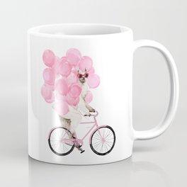 Riding Llama with Pink Balloons #1 Coffee Mug