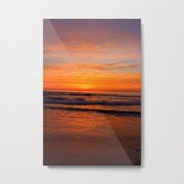 Scripps Pier - Orange Sunset Metal Print