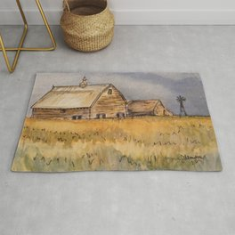 Barns and Windmill Rug