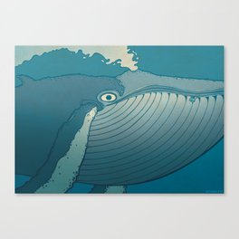 A whale ate her by mistake and spat her up in the sky Canvas Print