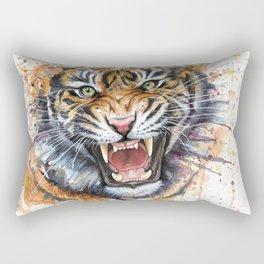 Tiger Watercolor Wild Animal Jungle Animals Rectangular Pillow