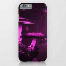 Glowing Purple  Mushrooms iPhone Case