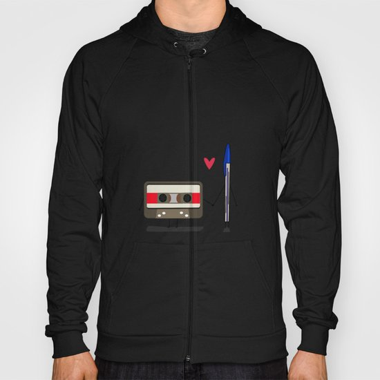 Love: cassette and pen Hoody