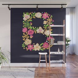 Floral letter B Wall Mural