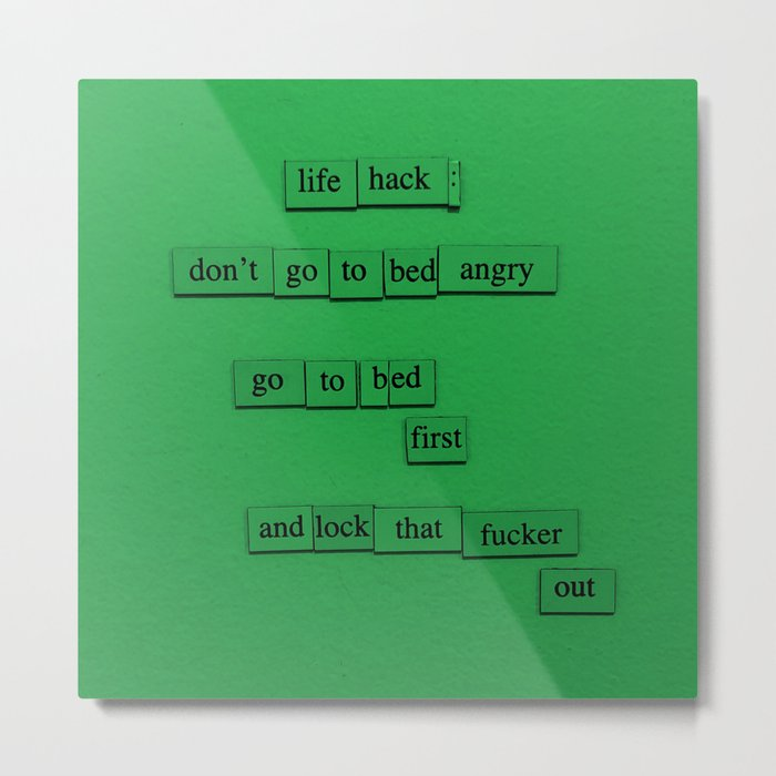 Life Hack: Bed Metal Print
