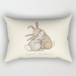 Hugs Bunnies Rectangular Pillow
