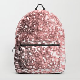 Rose Gold Sparkling Lights Backpack