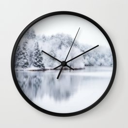 White Wonder Reflection Wall Clock