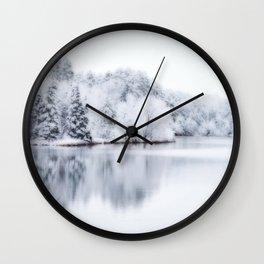 White Wonder Reflection Wall Clock