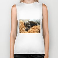 coco Biker Tanks featuring Coco by Sandra Ireland Images