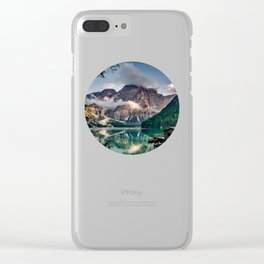 Italy mountains lake Clear iPhone Case