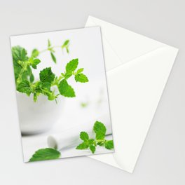 Melissa officinalis Stationery Cards