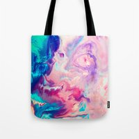 blush Tote Bags featuring Blush by Kimsey Price