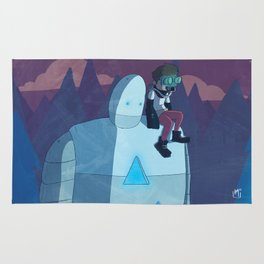 Robokid in the Forest Rug