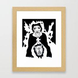 Hidden Head Framed Art Print